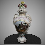 Large  KPM  Berlin Porcelain Capricorn Urn  Hand Painted 70 cm. End of the 19th Century