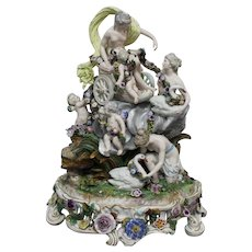 Impressive  Large Porcelain Mythological Group with Venus , Samson Paris 19 th Century