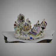 Very Large Porcelain Sculpture of Rococo Scene by Factory Rudolstadt  19th Century Germany