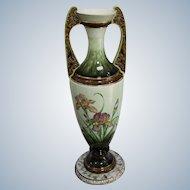Eichvald Dubí Large Art Nouveau Majolica Amphora from 1905 Height 65cm.
