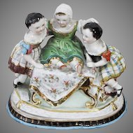 Stára Role Calsbad Porcelain of Figural Inkwell Manufactured 1850