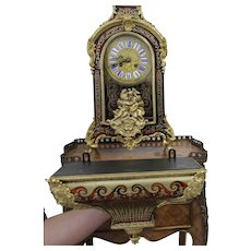 French Boulle Bracket Clock Decorated With Gilded Bronze   Second alf  of 19th century Total Height 79CM.