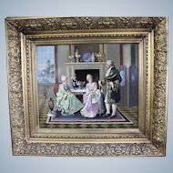 Ludwig Augustin Austrian, 1882–1960 Oil Painting of Gallant Scene  In Rococo Clothing