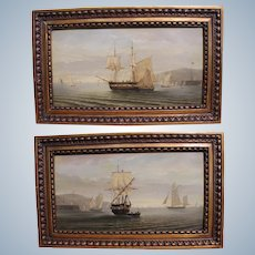 Ferdinand BONHEUR 1817-1887 France A Pair Oil Paintings Of Sailing Ship