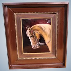 Limoges  Enamel on Copper The Hand Painting With A  Horse  Head From 1771