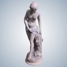 Large 19 Th Century French Alabaster Sculpture Of Venus Height 65cm.