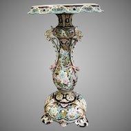 France, Art Nouveau Ceramics Table  end od 19 Th century,