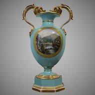 Very Rare Vase Of Porcelain Manufactory  Pirkenhammer 1830