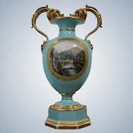 Very Rare Vase Of Porcelain Manufactory  Pirkenhammer 1830