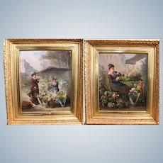 Gunther Julliard  Frech 19Th Century A  Pair Of the Painting: