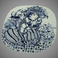"Nymolle Bjorn Wiinblad ""Louise"" Cat Lady Decorative Plate"