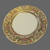 "Seven 7.25"" Salad Plate L. Bernardaud & Co. Limoges  Hand-painted Roses"