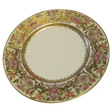 "Seven 7.25"" Salad Plate L. Bernardaud & Co. Limoges  Hand-painted Roses"