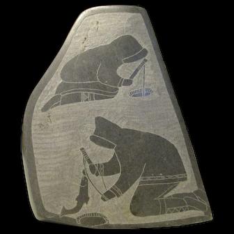 Sculpture Depicting Daily Life Soapstone Inuit Alaskan
