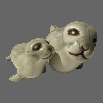 Mama and baby Seal Andersen Design Studio Pottery Maine, USA