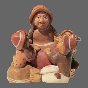 Storyteller with Five Children from Peru