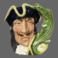Captain Hook and Crocodile Toby Jug Royal Doulton D6601 1964 Henk/Biggs