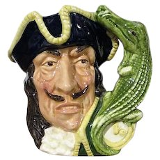 Captain Hook and Crocodile Toby Jug Royal Doulton D6601 1964 Henk/Biggs
