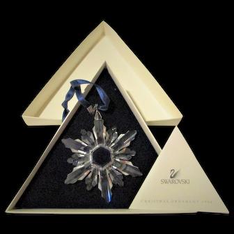 Swarovski Crystal 1998 Christmas Snowflake Limited Edition in Box