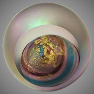 Paperweight Glass Eye Studio VENUS Iridescent with Gold