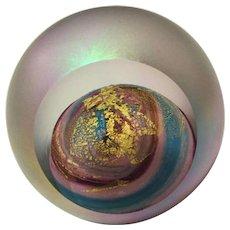 Paperweight Glass Eye Studio VENUS Iridescent with Gold