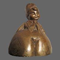 """Little Dutch Boy Brass Bell 2"""" Tall"""
