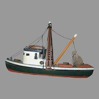 Folk Art Shrimp Fishing Boat Souvenir Cape Cod