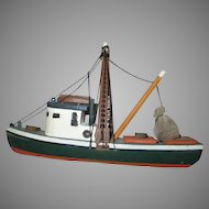 Folk Art Shrimp Fishing Boat Souvenir Cape Cod