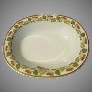 """Haviland Limoges Schleiger 106 1894-1932 Antique Sweet Pea Vegetable Serving Bowl 10"""" Oval"""