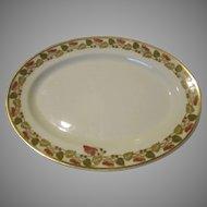 """Haviland Limoges 1894-1931 Schleiger 106  14"""" Oval Platter Sweet Pea Vine"""