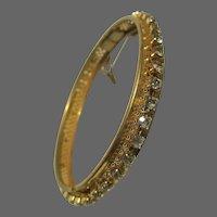 Vintage Bridal Miriam Haskell Rhinestone Bangle Bracelet