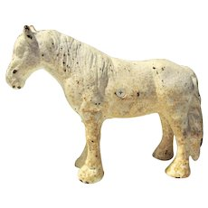 Old Cast Iron Work Horse Toy Door-Stop