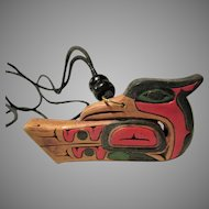 Artie George Coast Salish Thunderbird Pendant Necklace: Spiritual Power