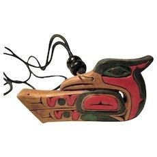 Artie George Coast Salish Thunderbird Pendant Necklace: Spiritual Power