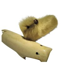 Bone Walrus and Fur Seal Vintage Collectables Alaska