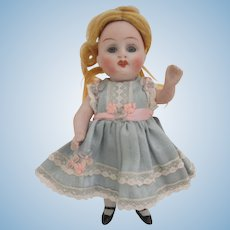 """German Bisque Prize Baby 5.5"""" Dollhouse Doll"""