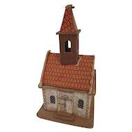 Vintage Erzgebirge Pressed Cardboard Church Putz