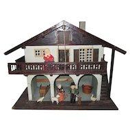 Antique Moritz Gottschalk Chalet Style Dollhouse Country Barn