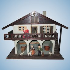 Antique Moritz Gottschalk Chalet Style Dollhouse Country Barn