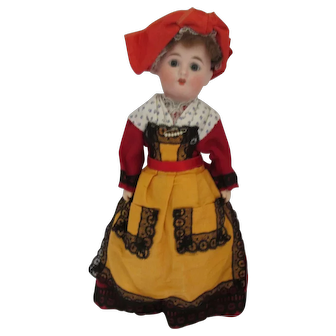 1900 Eden Bebe French Bisque doll in Regional French