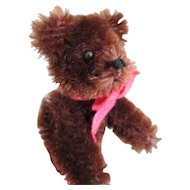 Vintage West German Schuco Mohair Teddy Brown Bear