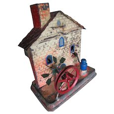 Sweet 1930's German Painted Tin Steam Toy Mill