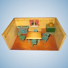 1950's West German Small Bavarian Room Box by Dora Kuhn
