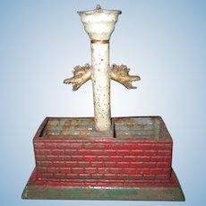 Antique German Marklin Tin Fountain for Dollhouse or Train