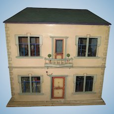 Antique Christian Hacker French Style Dollhouse c. 1880 for Mignonette Dolls