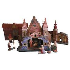 Early German Grulich Erzgebirge Nativity Scene