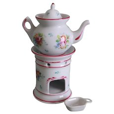 Vintage French Porcelain Doll's Veilleuse Tea Light