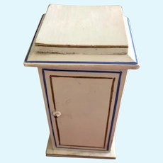 Vintage painted toilette washstand for small doll.