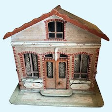 Fabulous 19th century 1-room German Dollhouse for French Mignonettes