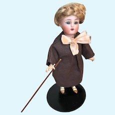 """Antique German Simon Halbig K*R 6"""" Bisque Teacher Doll"""